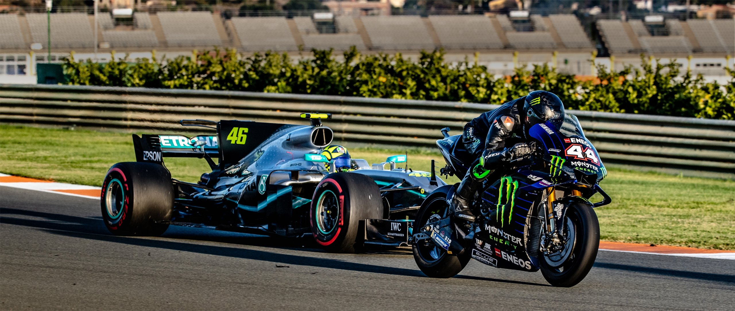 Valentino Rossi And Lewis Hamilton Take On The Ultimate Swap