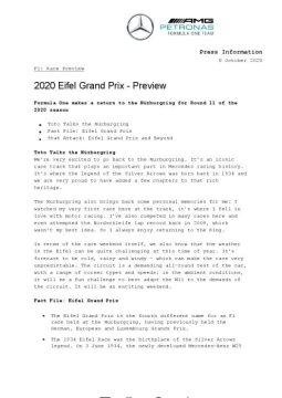 2020 Eifel Grand Prix - Preview
