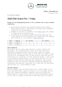 2020 Eifel Grand Prix - Friday